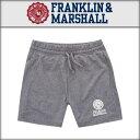 フランクリン マーシャル FRANKLIN&MARSHALL 正規販売店 メンズ スウェットハーフパンツ MELANGE FLEECE SHORTS GREY MELANGE PAMCA408M 41181-2013
