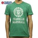 ショッピング販売 フランクリン マーシャル Tシャツ 正規販売店 FRANKLIN&MARSHALL 半袖Tシャツ クルーネック LOGO TEE BRIGHT GREEN TSMF188AN 45181 4013