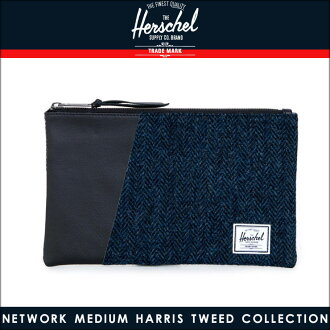 赫歇爾赫歇爾供應正規的銷售購物包網路介質哈裡斯粗花呢集合 10162 00878 OS 藍色人字/黑色 10P28Sep16