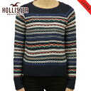 40%OFFセール 【販売期間 6/4 20:00〜6/11 01:59】 ホリスター セーター レディース 正規品 HOLLISTER Patterned Crew Sweater 350-507..