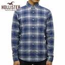ホリスター シャツ メンズ 正規品 HOLLISTER 長袖シャツ Plaid Poplin Shirt Epic Flex Slim Fit 325-259-1584-209
