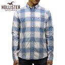 ホリスター HOLLISTER 正規品 メンズ 長袖ボタンダウンシャツ Stretch Plaid Poplin Shirt Epic Flex 325-259-1724-219