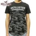 ホリスター HOLLISTER 正規品 メンズ 半袖クルーネックTシャツ Camo Graphic Tee 323-243-2244-985