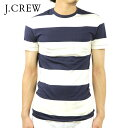 ジェイクルー J.CREW 正規品 メンズ 半袖Tシャツ SLIM SURF-STRIPED T-SHIRT e7796