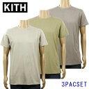 キス Tシャツ 正規品 KITH 半袖Tシャツ KITH Classics Undershirt 3-Pack - Cinder / Olive / Tan KH3004-306