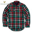 ライルアンドスコット LYLE&SCOTT 正規販売店 BUTTON DOWN CHECK SHIRT ボタンダウンシャツ グリーンレッド 10P07Feb16