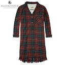 メゾンスコッチ MAISON SCOTCH 正規販売店 レディース ドレス Shirt dress in various checks with fringes at the bottomhem. 100268 18