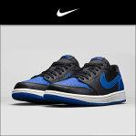 ナイキ NIKE 正規品 メンズ 靴 シューズ AIR JORDAN 1 RETRO LOW OG - VARSITY ROYAL - BLACK/SAIL/VARSITY ROYAL 705329-004 10P28Sep16