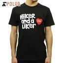 ポーラー Tシャツ 正規販売店 POLER 半袖Tシャツ HIKER AND A LIKER TEE 21200004-BLK BLACK 敬老の日 プレゼント
