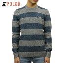 ポーラー セーター メンズ 正規販売店 POLER クルーネックセーター WALNUT SWEATER 21330004-BLU BLUE