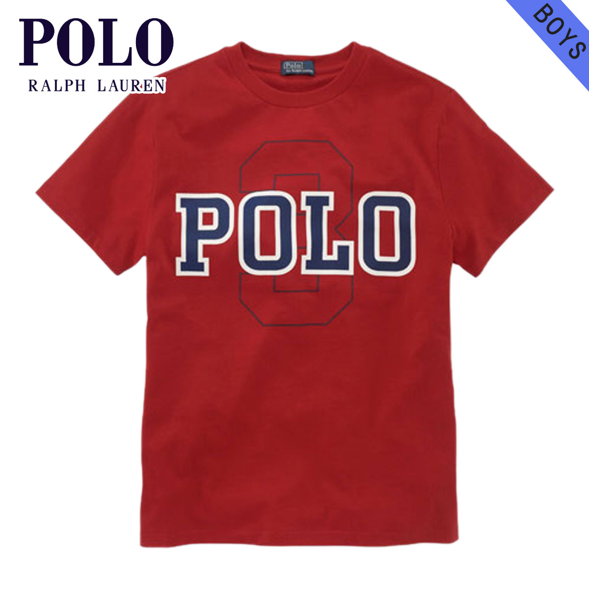 【20%OFFセール 3/24 20:00〜3/29 1:59】 ポロ ラルフローレン キッズ POLO RALPH LAUREN CHILDREN 正規品 子供服 ボーイズ 半袖Tシャツ Short-Sleeved Polo Graphic Tee #19150646 RED