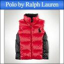 ポロ ラルフローレン キッズ POLO RALPH LAUREN CHILDREN 正規品 子供服 ボーイズ ダウンベスト Tryol Big Pony Down Vest #22358346 RED