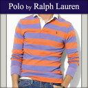 ポロラルフローレン POLO RALPH LAUREN 正規品 メンズ 長袖ラガーシャツ RUGGER SHIRT オレンジパープル 10P31Aug14