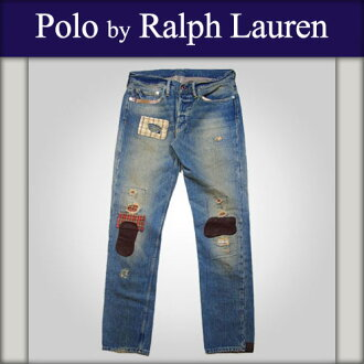 Polo Ralph Lauren genuine, these jeans Slim Patchwork Vintage Denim A05B B1C C2D D1E E07F10P28oct13