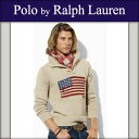 ポロラルフローレン POLO RALPH LAUREN 正規品 メンズ セーター Flag Shawl Pullover Sweater アイボリー 10P22Jul14