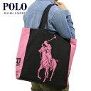 ポロ ラルフローレン POLO RALPH LAUREN 正規品 トートバッグ ポロラルフローレン PINK PONY TOTE BAG 38*42*13cm BLACK