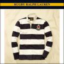 ラルフローレンラグビー RUGBY RALPH LAUREN 正規品 メンズ 長袖ラガーシャツ Striped Lambert Rugby ホワイトネイビー 10P31Aug14