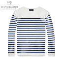 スコッチアンドソーダ セーター メンズ 正規販売店 SCOTCH&SODA Uni Blauw Breton Stripe Knit 100624 A1 D00S20