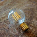【クーポン配布中】 LED電球シリーズ【ミニボール球 4W E-17 電球色 ガラス:クリア色】【あす楽】ペンダントライト 輸入雑貨 照明器具 おしゃれ 雑貨 アンティーク調 ヨーロピアン アンティーク風 インポート ヨーロッパ