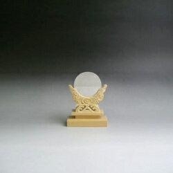 神鏡 特上鏡+特上彫り雲形台 2寸