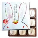 【京都 お土産】京都の豆腐うさぎクリーム大福 9個入 〈きょうと 和菓子 スイーツ 出