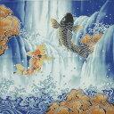 開運小ふろしき 鯉の滝登り 50cm巾 風呂敷 日本製【名入れ可能商品】【メール便可】