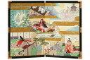 友禅和紙工芸品 15号二曲絵屏風 竹取物語 60cm幅 日本製 送料無料