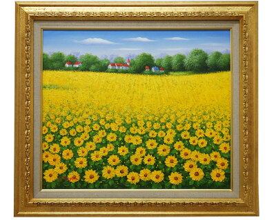 絵画 ひまわり畑