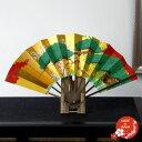 日本土産 京扇子 飾扇 7.5寸 松竹梅 日本製【名入れ可能】【メール便不可】