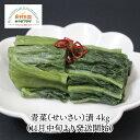 【送料無料】青菜漬 せいさい 漬物 4kg 11月中旬から 旬 詰合せ 豊屋食品工業 宮城 伝統野菜 浅漬け