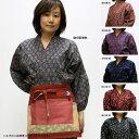 【凛】婦人専用デザインの綿100%小紋柄作務衣