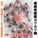 【訳あり】業務用 カリカリ梅 国内産 ドドーンと600g 【P20Aug16】