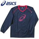 アシックス バレーボール ウォームアップシャツ 長袖 XWW626 50 ネイビー