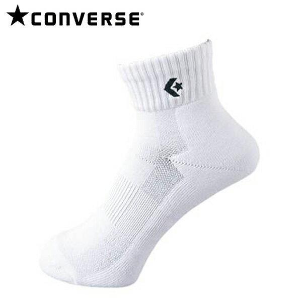 コンバース バスケット ソックス 靴下 ニューアンクルソックス CB16006 1119 ホワイト×ブラック