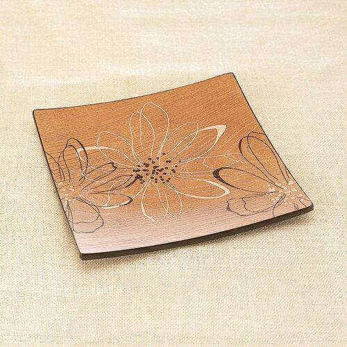 天然木製 8寸 角盛皿 スイングフラワーの商品画像