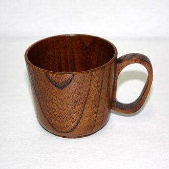 천연 원목 아동 머그컵 옻 칠