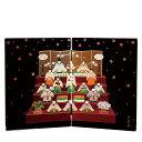 紀州塗り 木製屏風 日本の歳時 桃の節句
