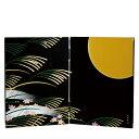 \LINE登録で100円OFFクーポン配布中/ 紀州塗り 木製屏風 日本の歳時 お月見