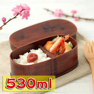 Bending magewappa oval lunch Bento box cherry lacquered