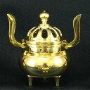 ■菊蓋玉香炉■ 浄土真宗用の真鍮製 金(磨き仕様)菊蓋玉香炉 2.3号(2.3寸)