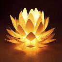 Origami-lite 蓮花 M 【蓮の花のあかり】(オリガミライト) 【デザイン照明】 【インテリア】【カメヤマ】【盆提灯】【モダン提灯…