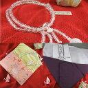 女性用お数珠と数珠入れ、ふくさの3点セット ■送料無料■