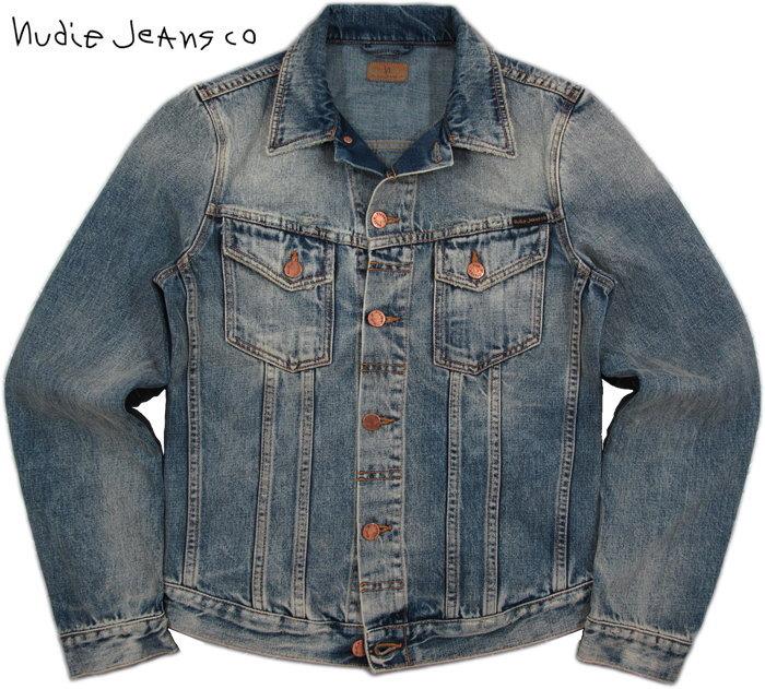 Nudie Jeans co/ヌーディージーンズ BILLY(ビリー) SHIMMERING INDIGO DENIM(シマリング・インディゴ・デニム) デニムジャケット/ジージャン/Gジャン・デニジャケ