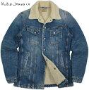 【SALE】30%OFF★Nudie Jeans co/ヌーディージーンズ LENNY(レニー) TANGERINE BLUE DENIM(タンジェリンブルー・デニム) 裏ボア付きデニムジャケット/裏ボア付き、デニム・ランチジャケット/ランチコート
