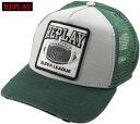 ショッピング刺繍 REPLAY/リプレイ AM4234 REPLAY SUPER LEAGUE CAP 刺繍ワッペンロゴ付き、メッシュキャップ GREEN(グリーン)