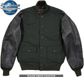 """【SALE】30%OFF★BUZZ RICKSON'S /バズリクソンズ Jacket, Flying, Summer type A-1 GROSGRAIN LEATHER SLEEVE """"William Gibson Collection"""" ウィリアム・ギブソン コレクション、レザースリーブ コットングログランA-1ジャケット BR12914"""
