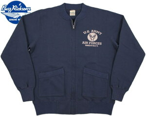 BUZZ RICKSON'S/バズリクソンズ FULL ZIP CREW SWEAT U.S. ARMY AIR FORCES U.S.アーミーエアフォースプリ...