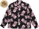 アロハシャツのモチーフの中でも、非常に人気の高い パイナップル・デザイン★ デュークス・パイナップル長袖アロハ