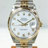 【質屋出店】【当店保証3年付】ロレックス デイトジャスト 16233G ダイヤ10Pインデックス メンズ 時計【中古】