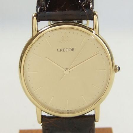 【質屋出店】【当店保証1年付】セイコー クレドール K14YG(イエローゴールド) 9571−6060 メンズ 時計【中古】